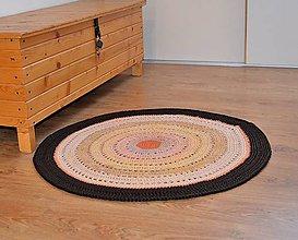 Úžitkový textil - Háčkovaný koberec v jesenných tónoch - 6307467_