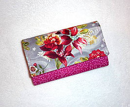 Peňaženky - Peňaženka - Kytica - 6305423_