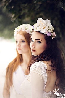 Ozdoby do vlasov - Kvetinová polvenček \