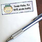 - Vtipná menovka na písomku - 100% záruka kvality 11 - 6327146_