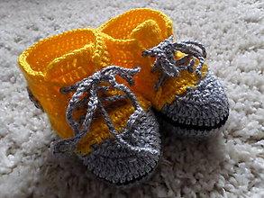 Topánočky - botasky žlté  :) - 6335928_