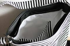 Kabelky - Florence (čierno-biela) - 6341774_