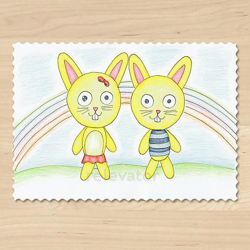 Zvieratká z Dúhovej krajiny - zajac a zajačica