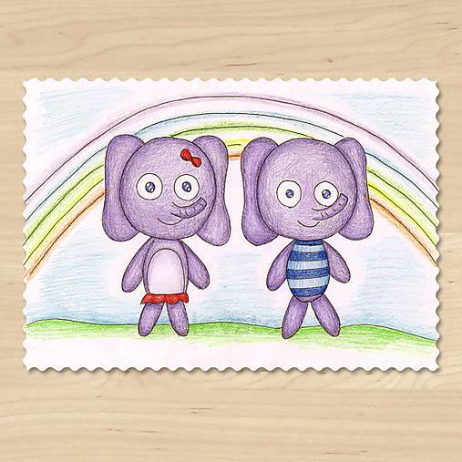 Zvieratká z Dúhovej krajiny - sloník a slonica
