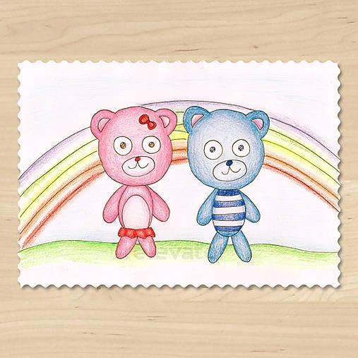 Zvieratká z Dúhovej krajiny - medvedík a medvedica