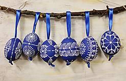 Dekorácie - KRASLICE /slepačie maľované vajíčka/ ako modrotlač - 6347426_
