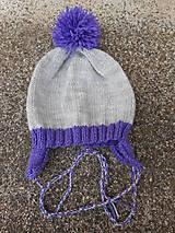 Detské čiapky - Detská čiapka s klapkami a brmbolcom - 6358076_
