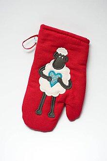 Úžitkový textil - Červená ovečka - 6360099_