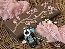 Nábytok - Vešiak na kľúče kvet čerešne - 6357354_