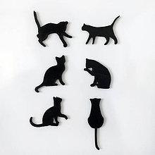 Magnetky - mačky - sada magnetiek - 6381132_