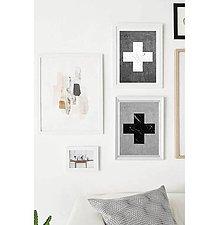Grafika - Grafika - Black and white cross - 6381735_