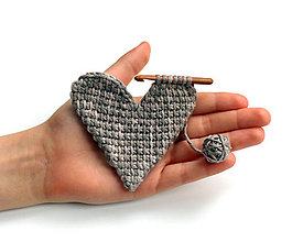 Odznaky/Brošne - Brošňa Srdcová záležitosť - 6402067_
