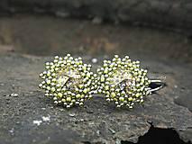 Náušnice - Swarovski Patina Gold - 6405415_