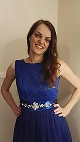 Šaty - modré šaty  - 6414837_