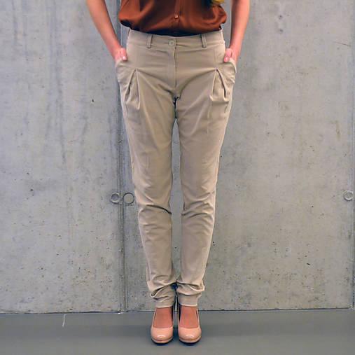 Nohavice - Kalhoty Thin Beige - 6438945_