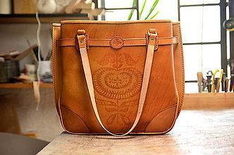 Veľké tašky - shopper bag SURMENA, tan, vzor - 6441813_