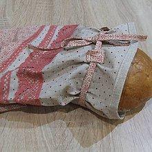 Úžitkový textil - Staroružová na režnej - obal na chlieb - 6458149_