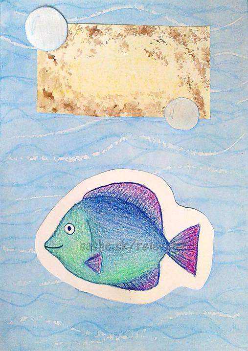 Ryba - maľovaná a kreslená pohľadnica