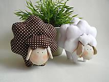 Dekorácie - Veľkonočná ovečka- brown&white  - 6463738_