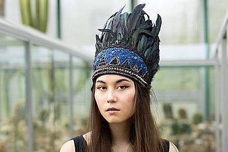 Ozdoby do vlasov - Vyšívaná indiánka ,,van gogh,, - 6466674_