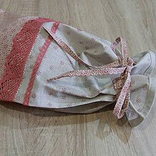 Úžitkový textil - Staroružová na režnej - obal na chlieb 2 - 6463882_