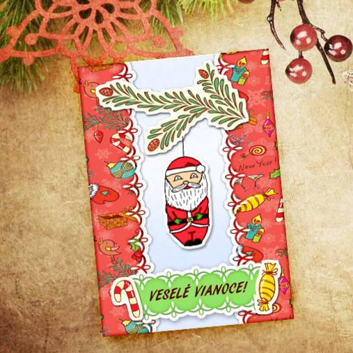 Vianočná pohľadnica Cartoon - Santa Claus