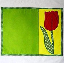 Úžitkový textil - Červený tulipán - prestieranie - 6469413_