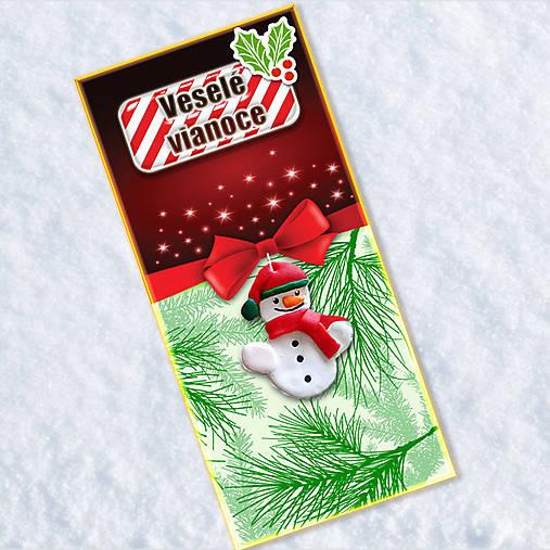Dlhá vianočná pohľadnica - snehuliačik