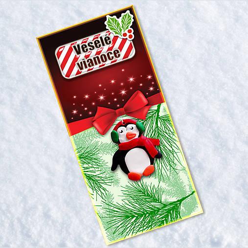 Dlhá vianočná pohľadnica - tučniačik
