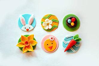 Drobnosti - Veľkonočné medajlóniky na cupcakes - 6480388_