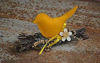 Dekorácie - Plamienok: Jarná dekorácia - 6484635_