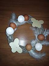 Dekorácie - Veľkonočný veniec s vajíčkami - 6499787_