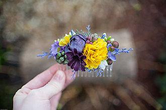 Ozdoby do vlasov - Kvetinkový hrebienok - 6499515_