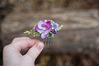 Ozdoby do vlasov - Minihrebienok kvetinkový - 6499770_