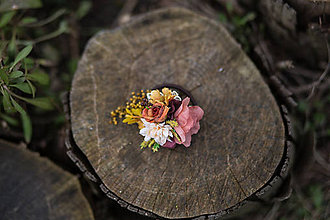 Ozdoby do vlasov - Kvetinová gumička \