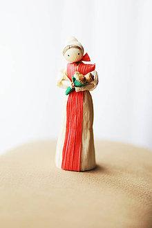 Dekorácie - Dievčina s kytičkou makov - 6505253_