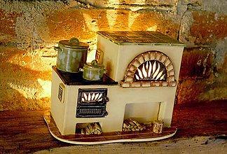 Svietidlá a sviečky - Nostalgická piecka - 6512653_