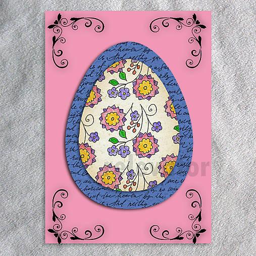Veľkonočné vajce - pohľadnica simple (text)