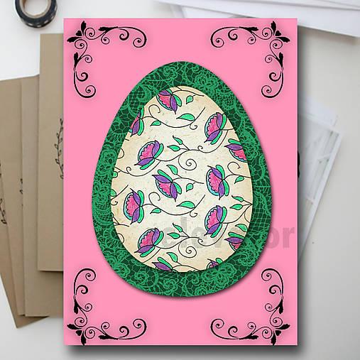 Veľkonočné vajce - pohľadnica simple (krajka) 4