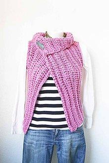Iné oblečenie - _Izzy... vesta... v Ružovej... & brošňa - 6533844_