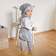 Detské oblečenie - Tepláky (šedé) - 6530698_