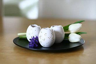 Dekorácie - set 3 vajíčok - svietnik, váza, korenička II. - 6534553_