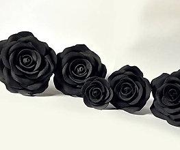 Drobnosti - Kolekcia čiernych ruží na tortu (6) - 6537218_