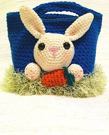 Detské tašky - Háčkovaná taška s motívom zajaca - 6538334_