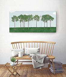 Grafika - Vtáčí les - leto - 6535963_
