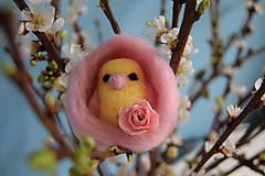 Dekorácie - vtáčik vo vajíčku - 6540236_