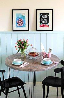 Nábytok - Jedálenský stôl SCANDI BROWN - 6548120_