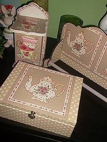 Krabičky - čajovka s čajníčkom - 6553936_