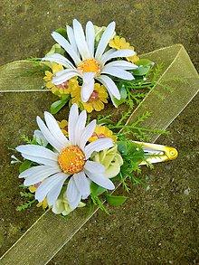 Ozdoby do vlasov - Kvetinový set(sponka a náramok) - 6560093_