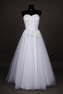Šaty - Korzetové svadobné šaty z korálkovej krajky - 6559420_